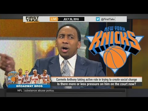Stephen A. Smith Says KNICKS to Conference Finals!!? More Pressure on Carmelo Anthony?