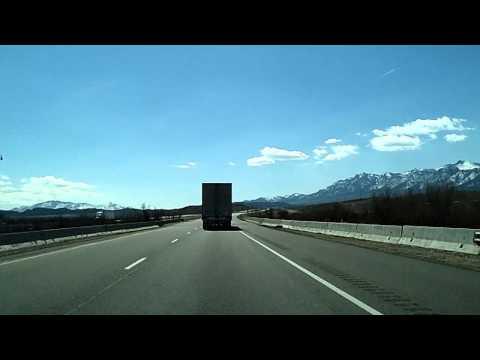 Salt Lake City, South on Interstate 15 to Fillmore, Dashcam Time Lapse