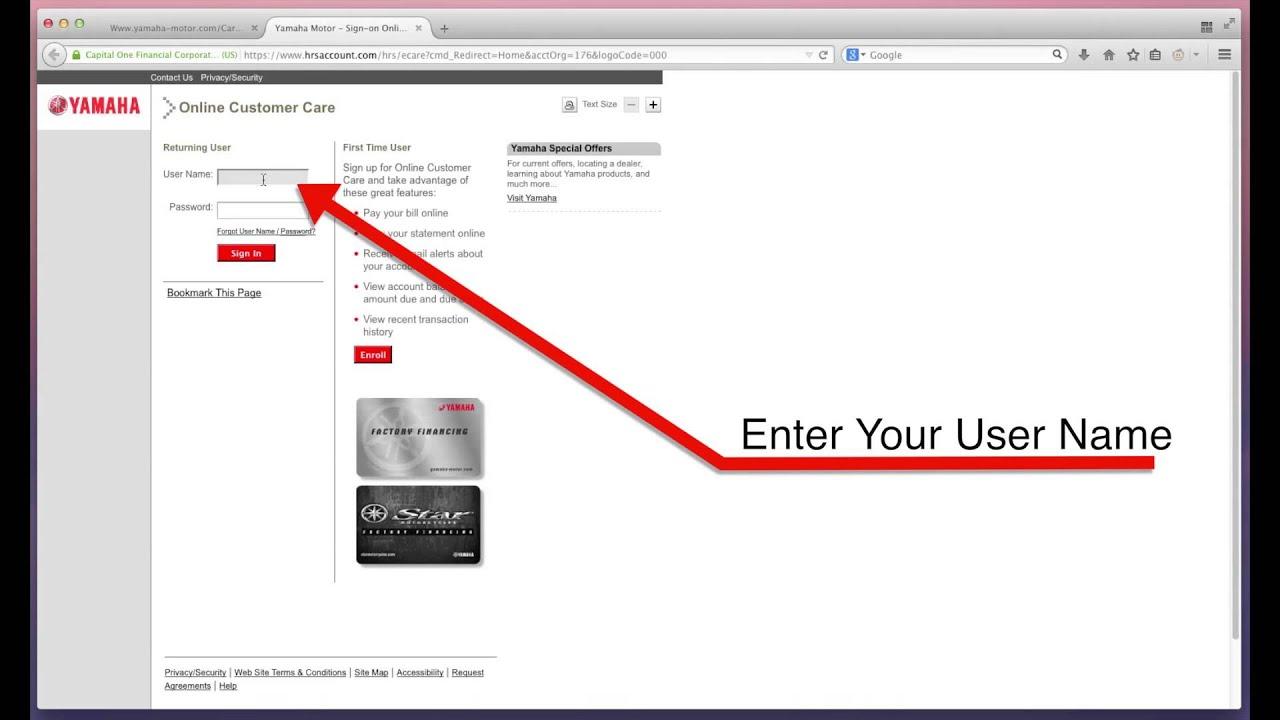 Yamaha Motors Pay Bill Online Guide