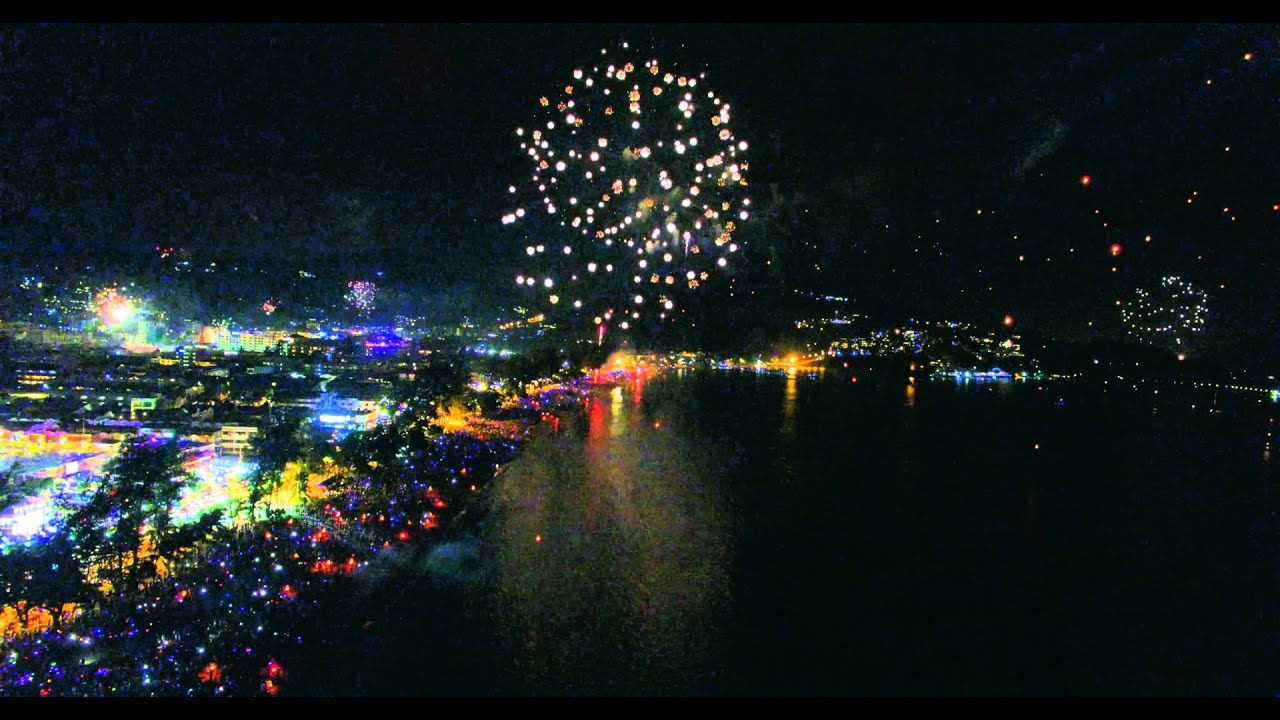 happy new year from patong beach in thailand 20152016 by drone youtube