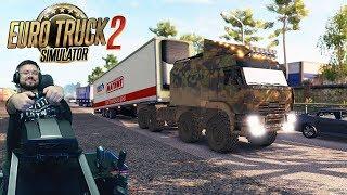 Продолжаем сериальчик в 3000км #2 день 1 - Euro Truck Simulator 2 + руль Fanatec CSLElite