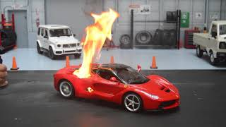 RC LaFerrari catching fire 알씨카…
