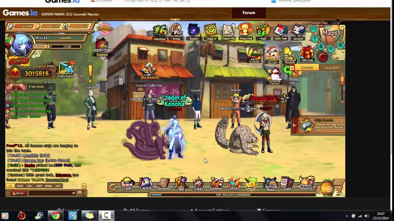 naruto browser game