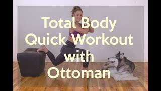 At Home Hiit Workout with an Ottoman