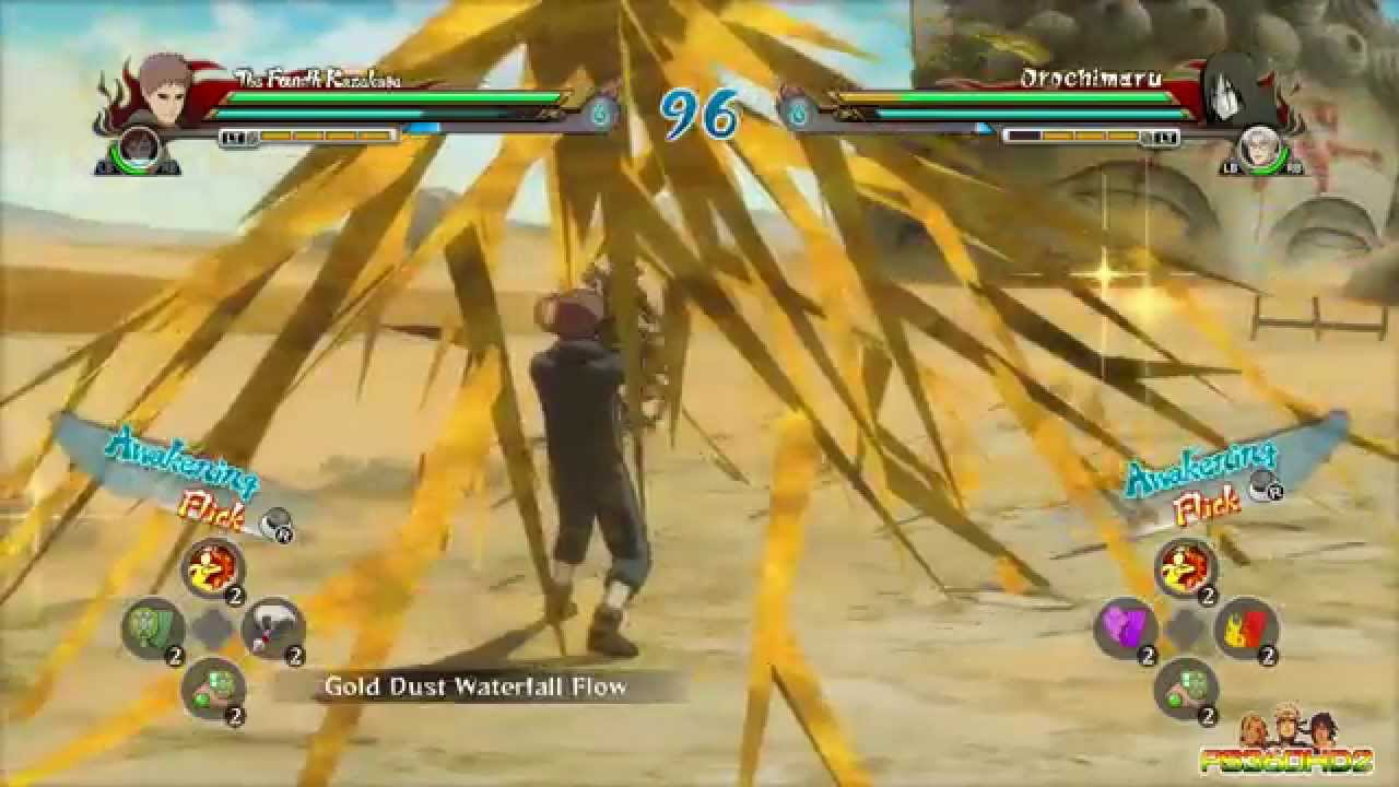Naruto shippuden ultimate ninja storm revolution 4th for Cuarto kazekage vs orochimaru
