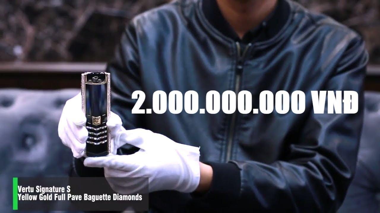Trên tay siêu điện thoại 2 TỶ ĐỒNG toàn kim cương và vàng nguyên khối