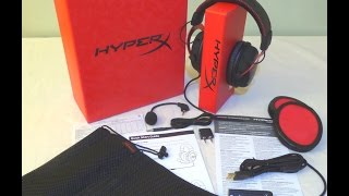Unboxing of the HyperX Cloud II Gaming Headset for PC, MAC, PS4 or Mobile
