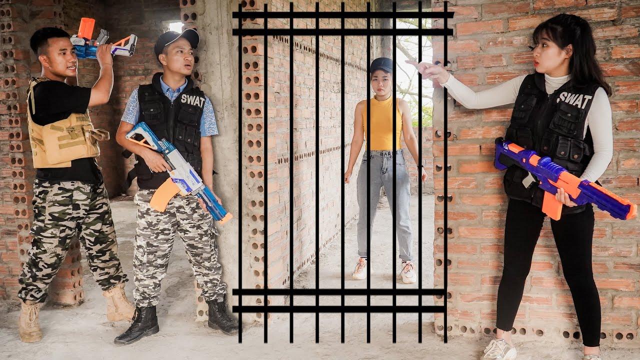 JE Nerf War: Captain SEAL NERF Warriors K Nerf Guns Fight Criminal Group Rescue The Girl at Prison