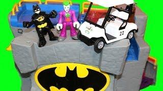 Batman Batcave Imaginext Joker Dc Super Friends Batman Motorcycle Golf Cart