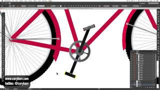 Drawing a Bicycle in Illustrator: Speed Teaser