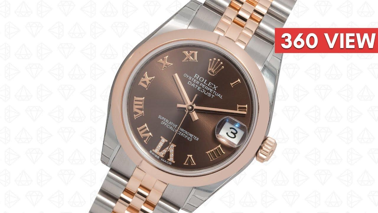 ba7108ccf42 Rolex DateJust 31 bi-metal Steel & Everose Gold Chocolate/Roman dial 178271