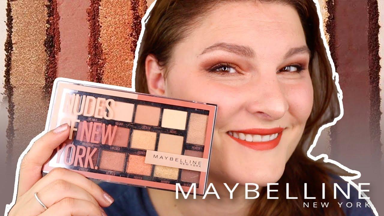 Maybelline Nudes of New York Palette (Livetest)
