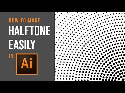 How to make Halftone Easily - Adobe Illustrator Tutorial