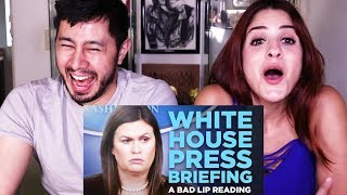 WHITE HOUSE PRESS BRIEFING - A BAD LIP READING | Reaction!