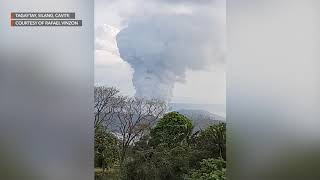 Follow rappler for the latest news in philippines and across globe. online user rafael vinzon captures video of plumes ash from taal volcano after...