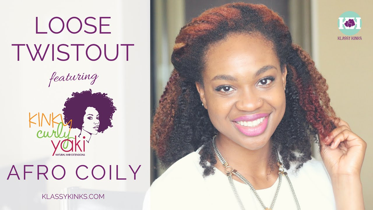 Natural Hair Twistout Ft Kinkycurlyyaki Afro Coily Clip