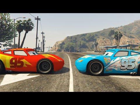 Lightning McQueen vs Dinoco Lightning Mcqueen Racing - SuperHero Funny Moments