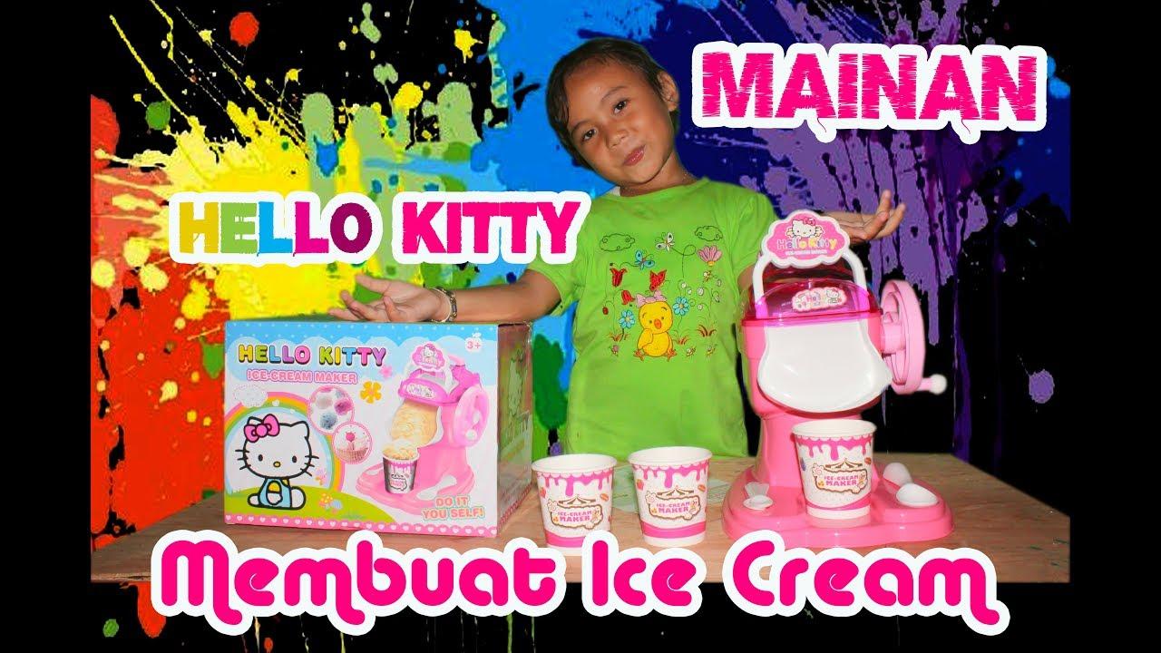 Mainan Hello Kitty Ice Cream Maker Unboxing Anak Frozen Pembuat