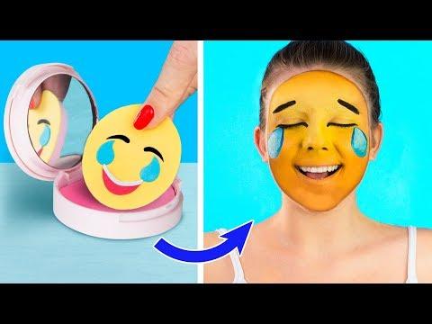 10 Verrückte Make-Up Ideen / DIY Emoji Make-Up Ideen