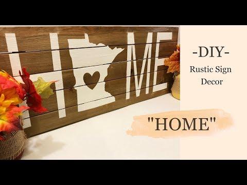 "DIY Wood Sign: ""HOME"" | kzvDIY"