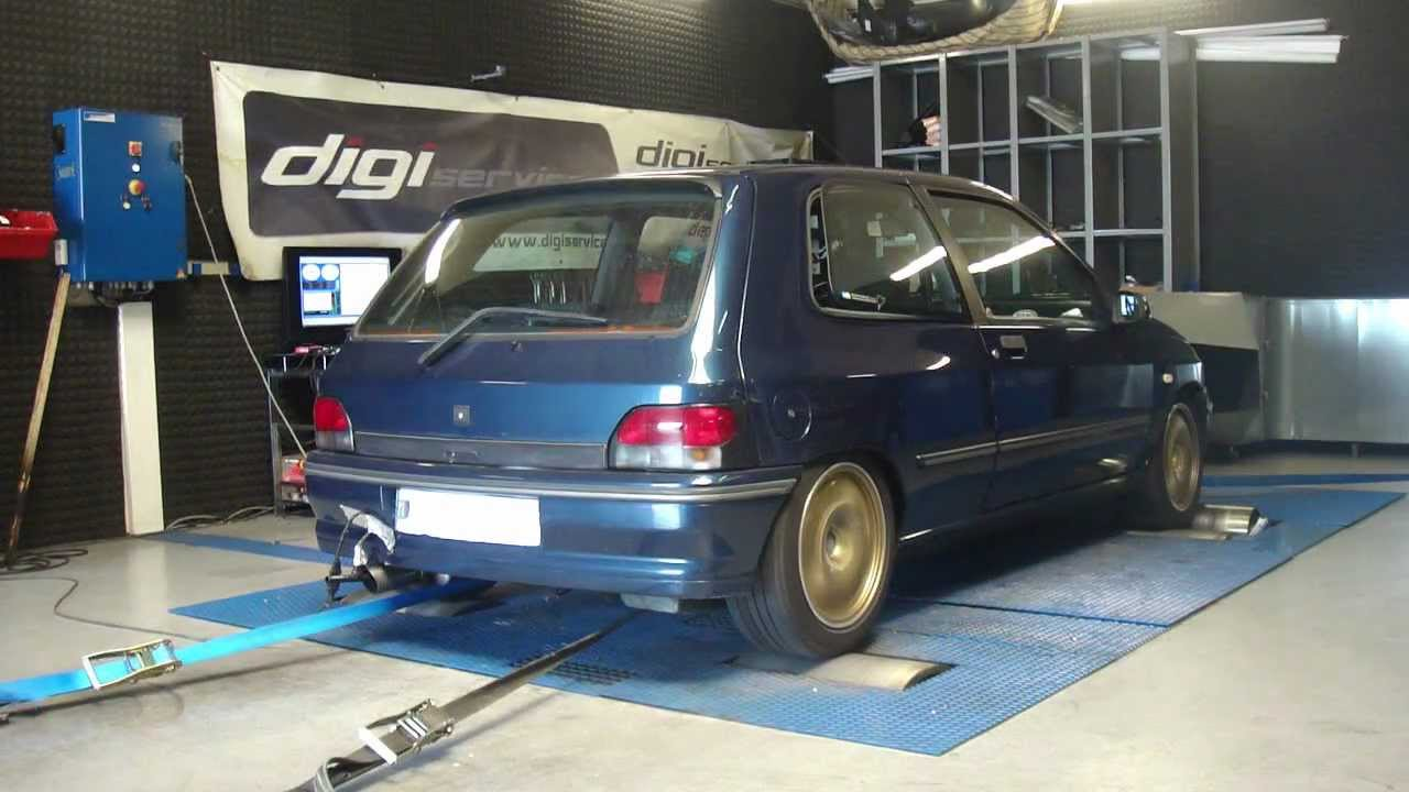 renault clio williams aac 191cv reprogrammation moteur dyno digiservices youtube. Black Bedroom Furniture Sets. Home Design Ideas
