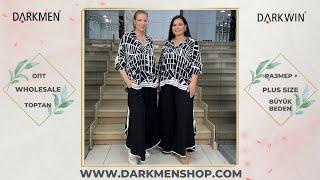 03 06 2021 Часть 2 Показ женской одежды больших размеров DARKWIN от DARKMEN Турция Стамбул Опт