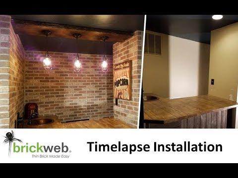 Brickweb Thin Brick Install - Timelapse