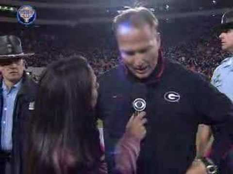 Tracy Wolfson Talks With Mark Richt After Win Over Auburn