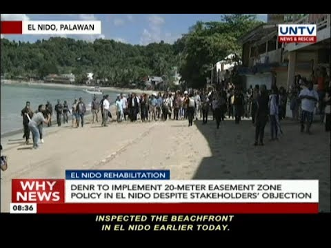 DENR to implement 20-meter easement zone policy in El Nido despite stakeholders' objection