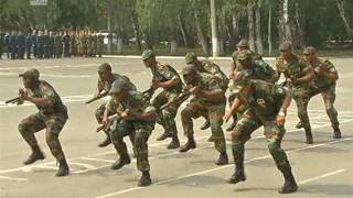 Курсанты ЧВВАКУША на вручении погонов исполнили национальный африканский танец. ВИДЕО