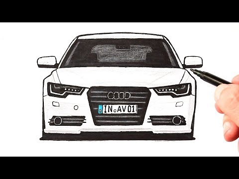 Как нарисовать машину Audi