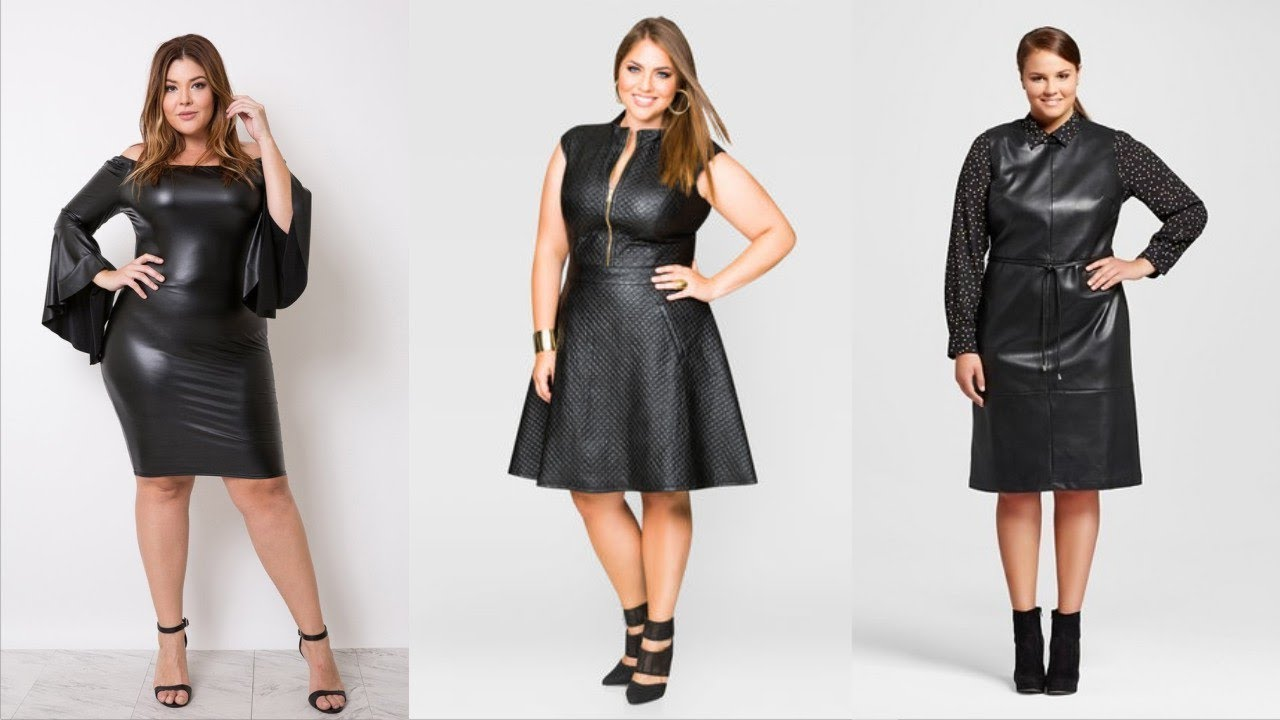 Plus Size Leather Dresses That Powering Your Daily Routine - YouTube
