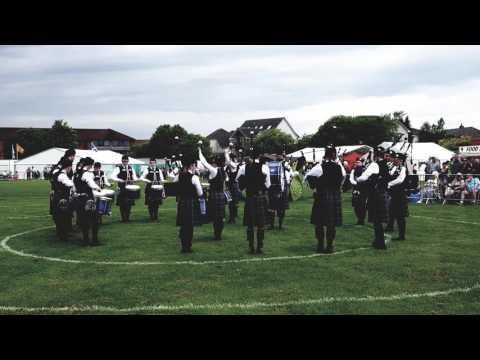 West Lothian Schools Pipe Band, Bathgate 2017