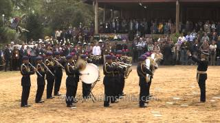 Police band plays Indian National Anthem at Hornbill festival 2013