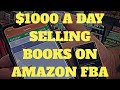 Make $1000 A Day Selling Books On Amazon FBA - Book Sourcing VLOG Thrift Haul