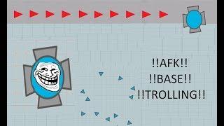 THE AFK BASE TROLL!!! - DIEP.IO TROLLING