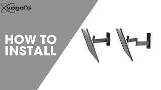 How To install WALL TURN VESA 400 | TV wall bracket | Vogel's