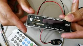 Apresentação da Placa Decodificadora M011/ MP3, Bluetooth, SD, FM