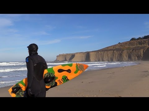 Tunitas Creek Tow Surfing Session Raw | San Mateo County, CA