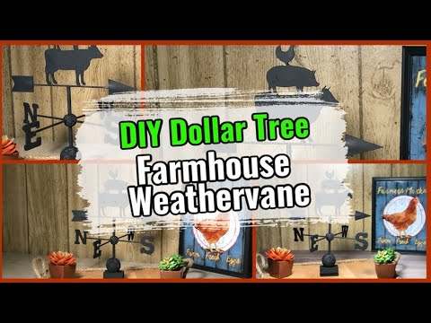 DIY Dollar Tree Farmhouse Weathervane - Wind Vane Rustic Decor | Simple DIYer