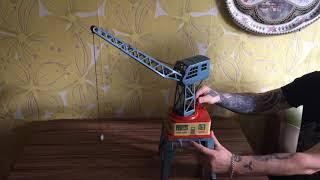 Заводна механічна іграшка -Портовий портальний кран.ФРН.Рідкість!