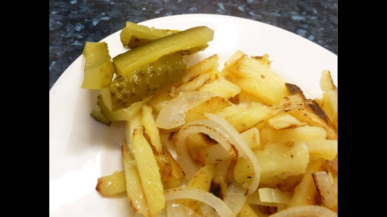 Russian Style Pan Fried Potatoes With Onions Eastern European Recipe Youtube
