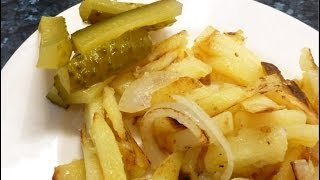 Russian Style Pan Fried Potatoes With Onions, (eastern European Recipe)