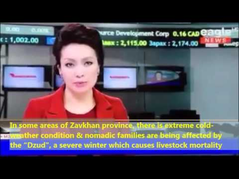 Eagle TV news on severe winter condition of Mongolia, 2016