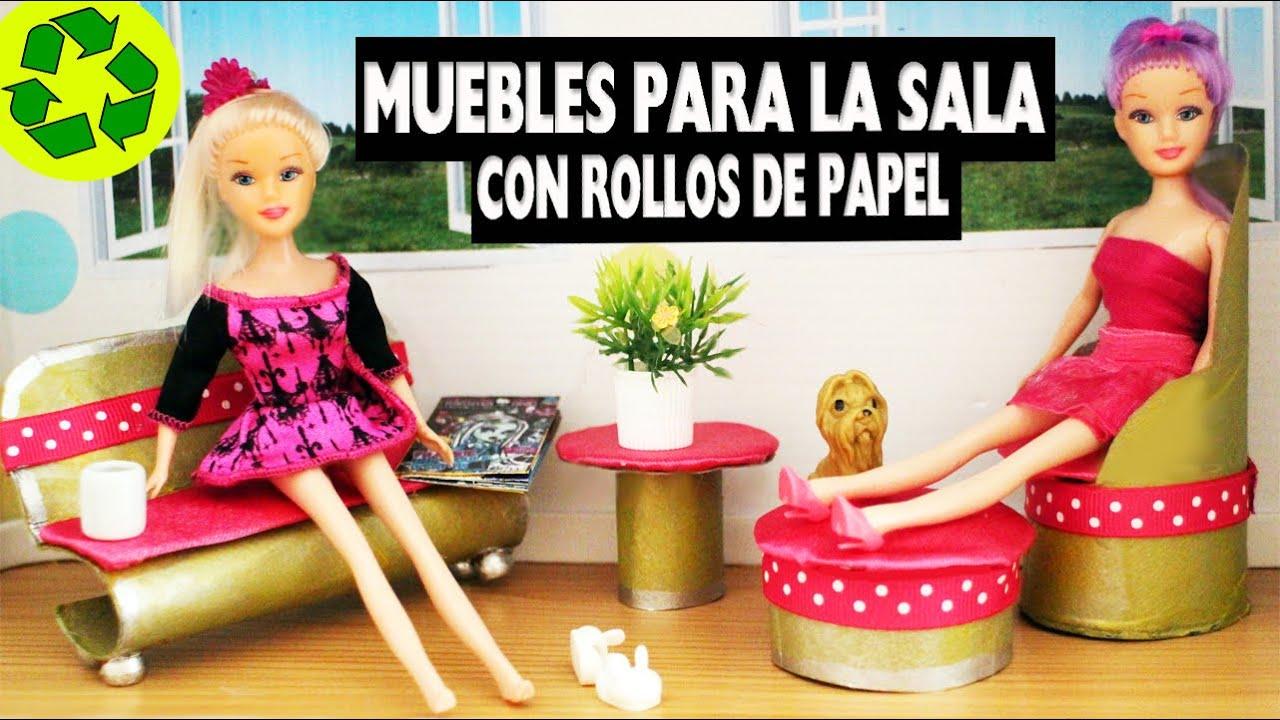 C mo hacer muebles de sala para tus munecas con rollos de - Rollos adhesivos para muebles ...