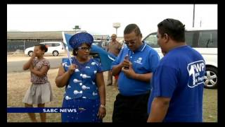 Helen Zille campaigning ahead of a bi-elections in the Western Cape.