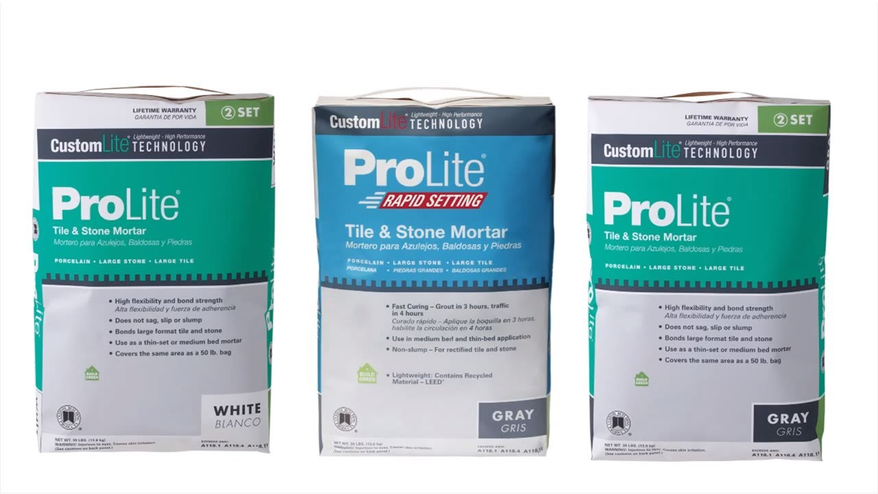how to use prolite tile stone mortar