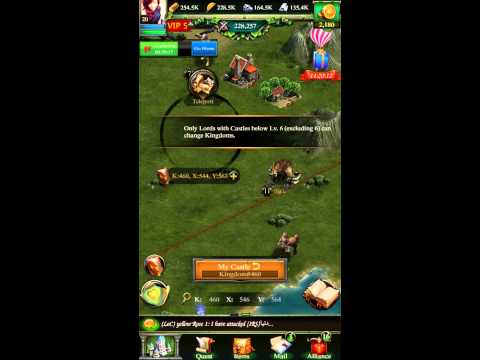 How To Teleport  From Kingdoms Clash Of Kings