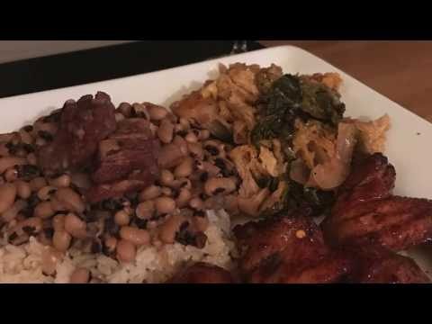 Health And Prosperity - Black Eyed Peas, Cabbage, And Honey Chicken