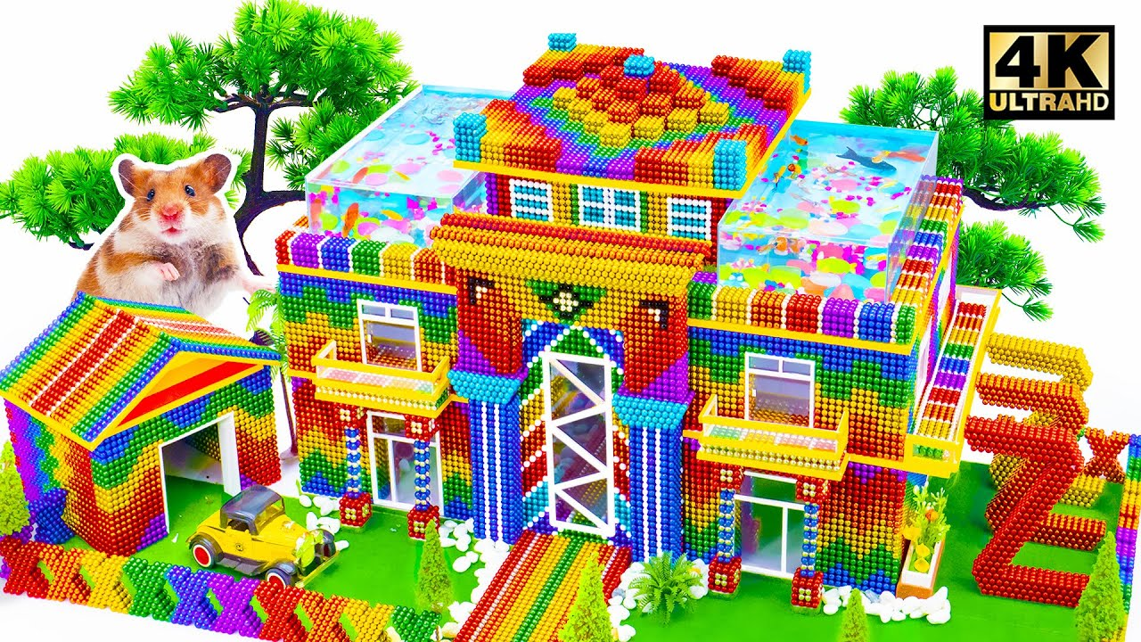 How To Build Double Rooftop Fish Tank On Rainbow Garden Villa For Cute Animal